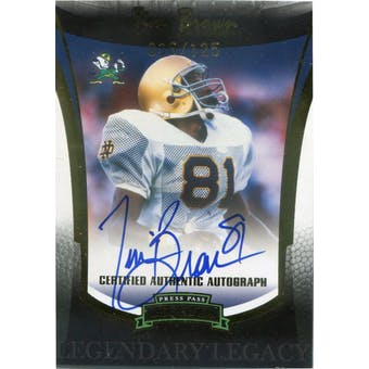 2006 Press Pass Legends Legendary Legacy Autographs Gold #2 Tim Brown #/125 (Reed Buy)