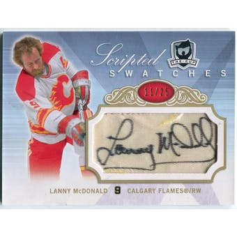 2007/08 The Cup Scripted Swatches #SSLM Lanny McDonald Autograph #/25 (Reed Buy)