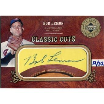 2005 Upper Dedck Classics Classic Cuts #BL Bob Lemon Autograph #/32 (Reed Buy)