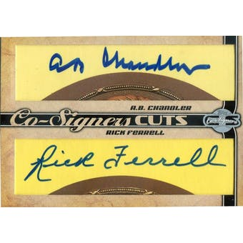 2006 Topps Co-Signers Dual Cut Signatures #ABCRF AB Chandler/Rick Ferrell Autograph (Reed Buy)