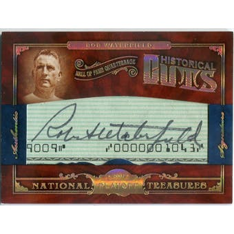 2007 Playoff National Treasures Historical Cuts #BW Bob Waterfield Autograph #/5 (Reed Buy)