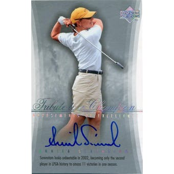 2004 SP Signature Endorsements of Excellence #A30 Annika Sorenstam Autograph (Reed Buy)