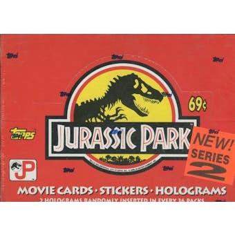 Jurassic Park Series 2 Hobby Box (1993 Topps)