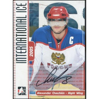 2006/07 ITG International Ice Autographs #AAO Alexander Ovechkin (Reed Buy)