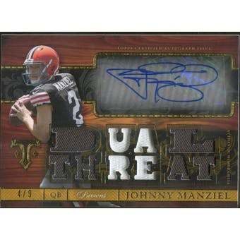2014 Topps Triple Threads Autographed Relics Gold #TTARJM Johnny Manziel #/9 (Reed Buy)