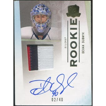 2009/10 The Cup Gold Rainbow #176 Devan Dubnyk Patch Autograph #/40 (Reed Buy)