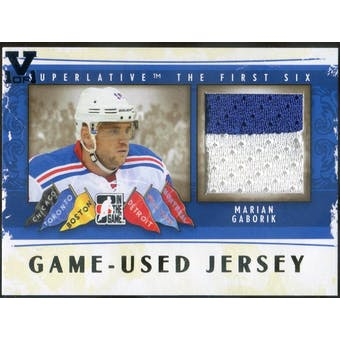 2013-14 ITG Superlative The First Six Jerseys Gold #GUJ10 Marian Gaborik Vault 1/1 (Reed Buy)