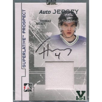 2009/10 ITG Superlative Prospect Jerseys Autographs Silver #PAJTHI Thomas Hickey Vault 1/1 (Reed Buy)