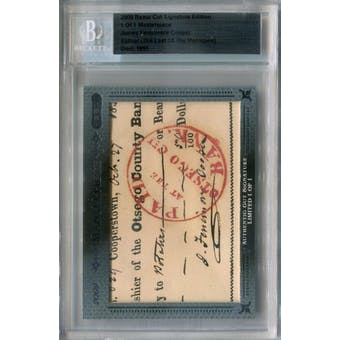 2009 Razor Cut Signature Edition James Fenimore Cooper Autograph 1/1 (Reed Buy)