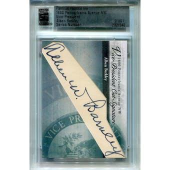 Alben Barkley 2012 1600 Pennsylvania Avenue NW Vice President Cut Signatures Autograph 1/1 (Reed Buy)