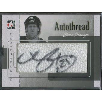 2007/08 ITG Superlative AutoThreads Gold #ATCP Chris Pronger Autograph 1/1 (Reed Buy)