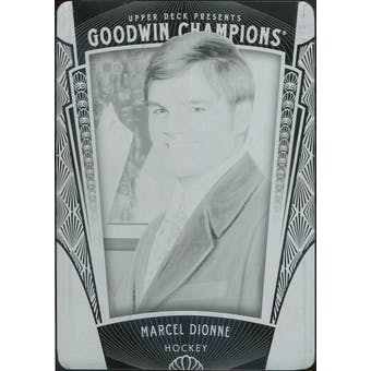 2015 Upper Deck Goodwin Champions Printing Plates Black #100 Marcel Dionne 1/1 (Reed Buy)