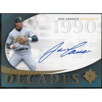 2005 Ultimate Signature Decades #JC Jose Canseco Autograph #/99 (Reed Buy)