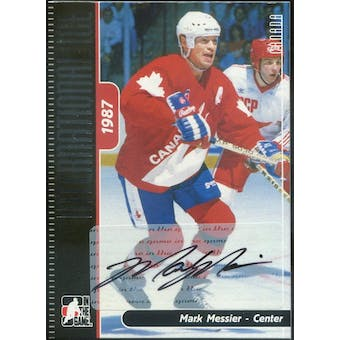 2006/07 In The Game International Ice Autographs #AMM3 Mark Messier (Reed Buy)
