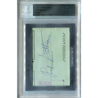 2008 Razor Cut Signature Edition Red Buttons Autograph 1/1 (Reed Buy)