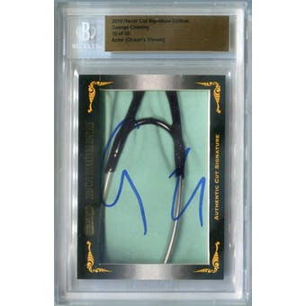 2010 Razor Cut Signature Edition George Clooney Autograph #/30 (Reed Buy)