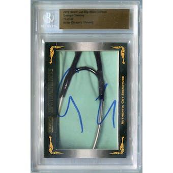 2010 Razor Cut Signature Edition George Clooney Autograph #/30 (Reed Buy)