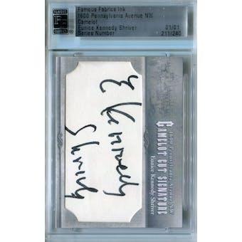 Famous Fabrics Ink 1600 Pennsylvania Avenue Camelot Eunice Kennedy Shriver Autograph 1/1 (Reed Buy)