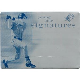 2007 SPx Young Stars Signatures Printing Plates Cyan #JM Joe Mauer 1/1 (Reed Buy)