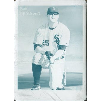 2009 Upper Deck Goodwin Champions Printing Plates Cyan #46 Jim Thome 1/1 (Reed Buy)