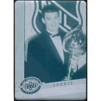 2009 Upper Deck 20th Anniversary Printing Plates Cyan #971 Mario Lemieux 1/1 (Reed Buy)