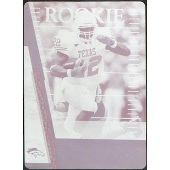 2007 Absolute Memorabilia Printing Plates Magenta #196 Selvin Young 1/1 (Reed Buy)