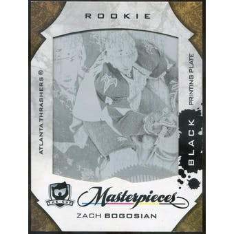 2008/09 The Cup Printing Plates Artifacts Black #299 Zach Bogosian 1/1 (Reed Buy)