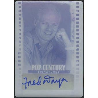 2011 Leaf Pop Century #BAFD1 Printing Plate Magenta Fred Dryer Autograph 1/1 (Reed Buy)