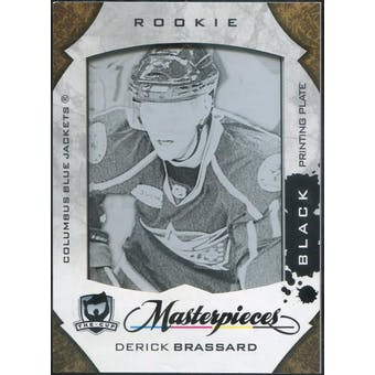 2008/09 The Cup Printing Plates Collector's Choice Black #206 Derick Brassard 1/1 (Reed Buy)