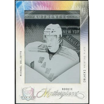 2009/10 The Cup Printing Plates SP Game Used Black #MAS134 Michael Del Zotto 1/1 (Reed Buy)