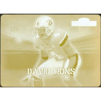 2007 Sage DeCADEnce Printing Plates Yellow #51 David Irons 1/1 (Reed Buy)