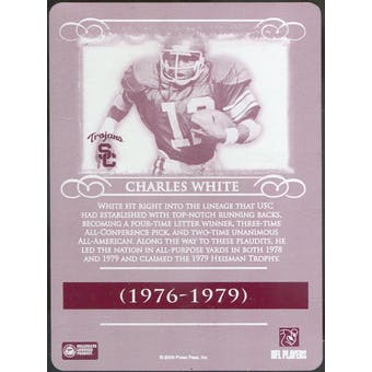 2008 Press Pass Legends Printing Plates Magenta Back #92 Charles White 1/1 (Reed Buy)