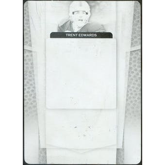 2007 Leaf Certified Materials Printing Plates Black #213 Trent Edwards 1/1 (Reed Buy)