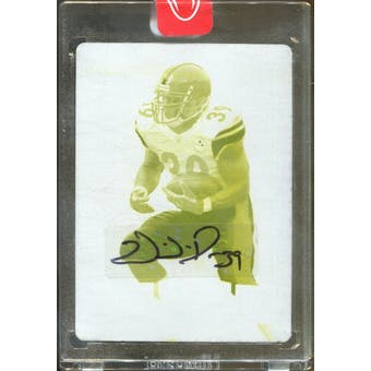 2008 Leaf Certified Materials Printing Plates Yellow #113 Willie Parker Autograph 1/1 (Reed Buy)