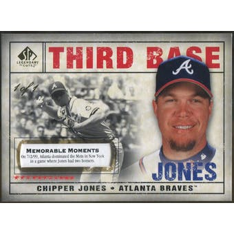 2008 SP Legendary Cuts Memorable Moments #13 Chipper Jones 1/1 (Reed Buy)