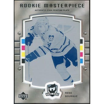 2005/06 The Cup Printing Plates Upper Deck Rookie Update Cyan #118 Rene Bourque 1/1 (Reed Buy)