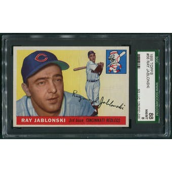 1955 Topps Baseball #56 Ray Jablonski SGC 88 (NM-MT 8)