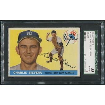 1955 Topps Baseball #188 Charlie Silvera SGC 88 (NM-MT 8)