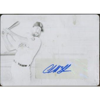 2014 Topps Supreme Autographs Printing Plates Black #SACB Charlie Blackmon 1/1 (Reed Buy)