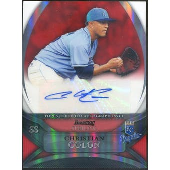 2010 Bowman Sterling Prospect Autographs Red Refractors #CCO Christian Colon 1/1 (Reed Buy)