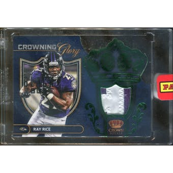 2012 Crown Royale Crowning Glory Materials Black Box 2013 #20 Ray Rice 1/1 (Reed Buy)