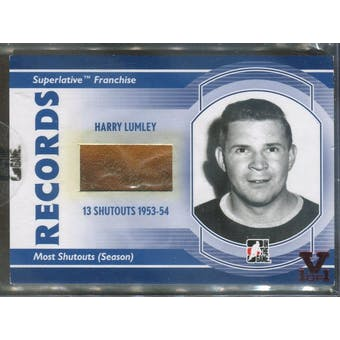 2008/09 ITG Superlative Franchise Records Memorabilia #R05 Harry Lumley Glove Vault 1/1 (Reed Buy)