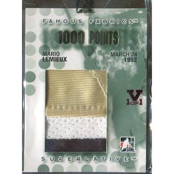 2007/08 ITG Superlative Famous Fabrics 1000 Points Gold #FFP35 Mario Lemieux Vault 1/1 (Reed Buy)