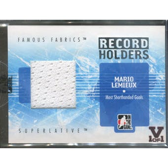2007/08 ITG Superlative Famous Fabrics Record Holders Silver #RH13 Mario Lemieux Vault 1/1 (Reed Buy)