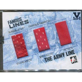 2009/10 ITG Superlative Famous Fabrics Famous Lines Silver Kharlamov/Mikhailov/Petrov Vault 1/1 (Reed Buy)