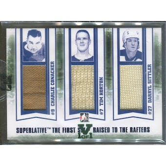 2013-14 ITG Superlative First Six Raised to the Rafters Triple Jerseys Conacher/Horton/Sittler 1/1 (Reed Buy)