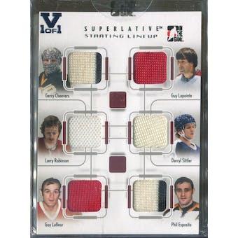 2007/08 ITG Superlative #SL04 Cheevers/Lapointe/Robinson/Sittler/LaFleur/Esposito Vault 1/1 (Reed Buy)