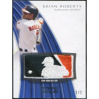 2009 Topps Unique MLB Logo Patch #BR3 Brian Roberts 1/1 (Reed Buy)