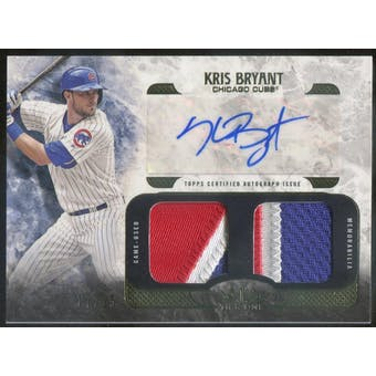 2016 Topps Tier One Autograph Dual Relics #AT1RKB Kris Bryant #/25 (Reed Buy)