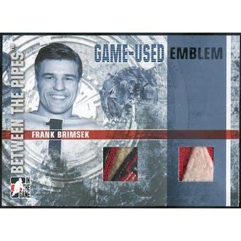 2006/07 ITG Between The Pipes Emblems #GUE54 Frank Brimsek (Reed Buy)